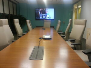Television display and control in a conference room