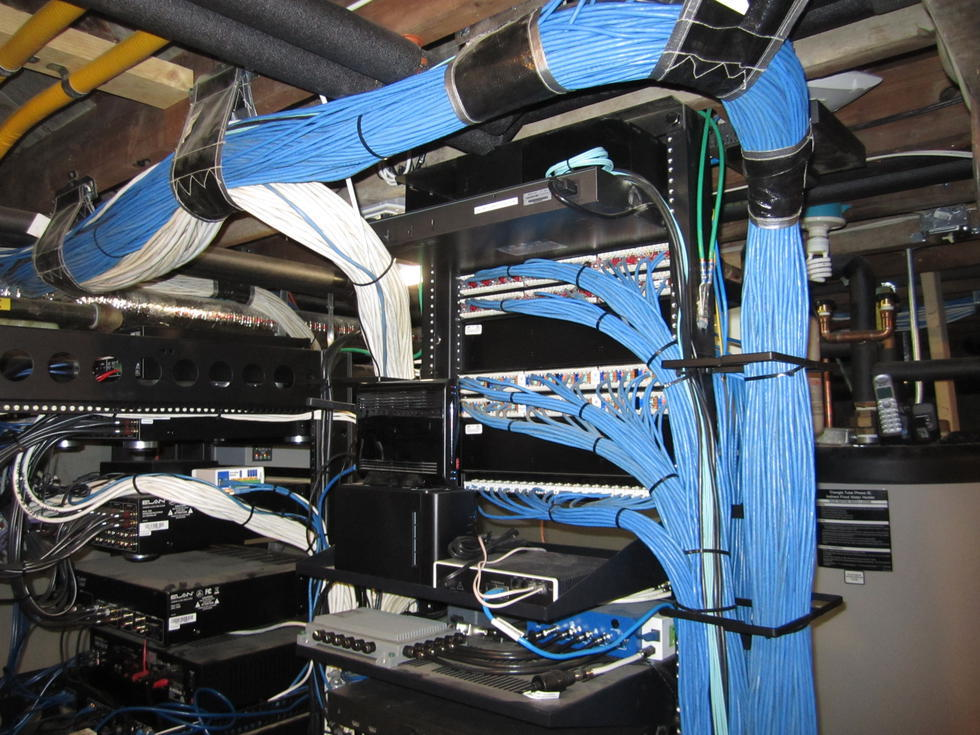 Professional office networking wiring