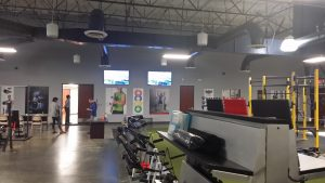 Gym television displays